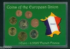 Buy FRANCE 8 Coins Euro SET 2  1  50 Cents 20  10  5  2  1 Cent 19992001 with Credit Card