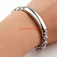 Cheapest Fashion Mens Boy Chain Bracelet 316L Stainless Steel Silver Tone Jewelry Bangle Online