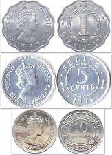 Big SALE Belize 1  5  10 Cents 3 Uncirculated Coin Set