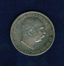 Get Cheap AUSTRIA FRANZ JOSEPH 1909 5 CORONA SILVER COIN XFALMOST UNCIRCULATED