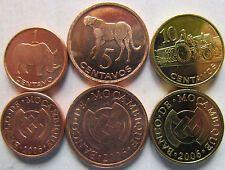 Bargain Mozambique set of 3 coins 2006 1510 Cents UNC
