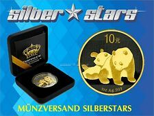 Low Price 1 OZ Silver China Panda 2010  Gold Black Empire Edition  New