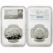 Buying China 2010 Panda 10 Yuan 1 oz Silver NGC MS70