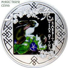 Buy 2011 Rwanda Year of the Rabbit Spring Silver Proof Coin rare with Paypal