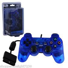 Best Price PS2 Shock Controller Sony PlayStation 2 Dual Vibration Gamepad New Blue