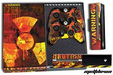 Low Cost Designer Skin for XBOX ONE 1 Gaming Console2 Controller Sticker Decal MELTDOWN