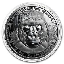Get Cheap SILVERBACK GORILLA  2016 1 oz Pure Proof Like Silver Coin in Capsule  Congo