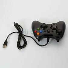 On Sale Wired Xbox 360 USB Remote Game Controller Gamepad for PC Windows Computer Black