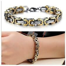 Big Discount Premium Stainless Steel Mens Jewelry Chain Link Bracelet Wristband Cuff Bangle