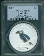 Buy 2007 1 AUSTRALIA KOOKABURRA 1 Oz SILVER BULLION COIN PCGS MS70 with Credit Card