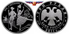 Cheapest New listing   Russia 3 rubles 2011 Year of Spain in Russia Silver 1 oz PROOF