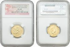 Buying Australia 2012 Year of Dragon 25 Dollars 14 oz Gold NGC MS68