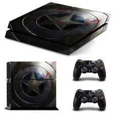 Low Priced Captain America Shape Cover Skin Sticker For PS4 PlayStation Console Controller