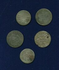 Cheap Price GERMANY  GERMAN STATES  GROUP LOT OF 5  SILVER COINS WITH WEAR