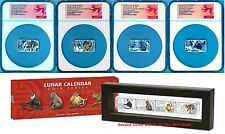 Big Discount Lunar Calendar 2016 Year of the Monkey 1oz Silver Proof 4Coin Set NGC PF70 Coin