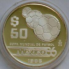 Cheap 50 Pesos 1986 FIFA World Cup 1986 in Mexico Silver coin Online
