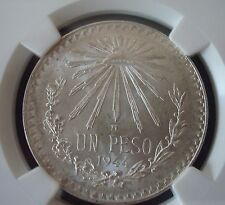 The Cheapest Mexico 1 Peso Silver  Beautiful Coin UNCIRCULATED NGC MS65 1944 Online