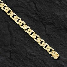 Buy 14k Solid Gold Mens Curb Link Bracelet  7 mm 18 grams 8 with Credit Card