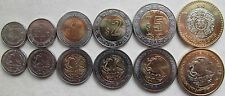 Mexico set of 6 coins 20142015 2050 centavos 12510 pesos  UNC 4 bimetal Compare Prices