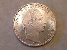 Get Cheap  Imperial Austria 1861 A Franz Joseph One 1 Silver Florin  Uncirculated UNC