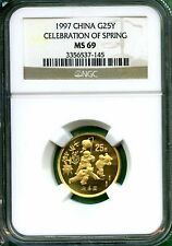 CHINA 1997  CELEBRATION OF SPRING  GOLD 14 OZ   NGC MS 69  MINTED 10000 Best Price