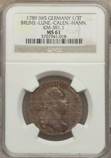 On Sale GERMANY BRUNSWICK 1789 13 THALER SILVER COIN UNCIRCULATED CERTIFIED NGC MS61