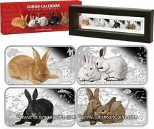 Price Comparisons Cook Islands 2011 Year of Rabbit 4 Coin Rectangle Color Silver Proof 1 Set