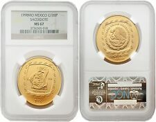 Deals For Mexico 1998 Sacerdote N100 1 oz Gold NGC MS67
