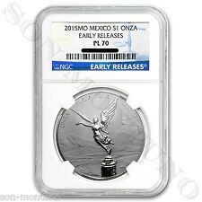 Buy NGC PL70 EARLY RELEASES  2015 Mexico  Libertad 1oz REVERSE PROOF Silver Coin with Paypal