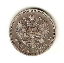 Best Savings for 1901  RUSSIA Imperial SILVER Coin 1 ROUBLE KM 593