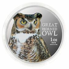 Get Rabate 2013 Birds of Prey  Great Horned Owl 1oz 999 Silver Proof Coin