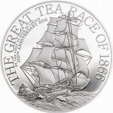 Big SALE Cook 2016 The Great Tea Race 2 Dollars Silver CoinProof