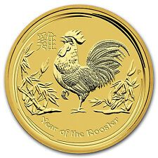 Promo Offer 2017 1 oz Gold Lunar Year of the Rooster Perth Mint BU  SKU 102651