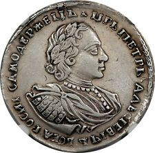 Get Rabate Russia 1720 Peter I Silver 12 Rouble Poltina NGC VF DETAILS