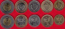 Best Price Mauritania set of 5 coins 1  50 ouguiya 19952010 AU
