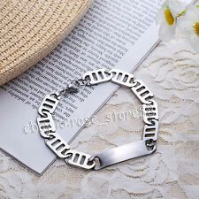 Fashion Women Men Punk Cool Stainless Steel Chain Bracelet Link Bangle Wristband for Sale Online