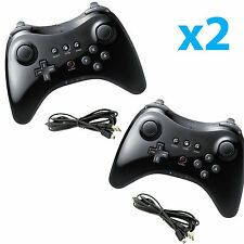 The Cheapest 2X New Black High Quality U Pro Bluetooth Wireless Controller for Nintendo Wii U Online