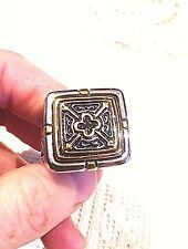 Cheap Price Vintage Large Gold Silver Stainless Steel Cross Crest Size 85 Mens Ring