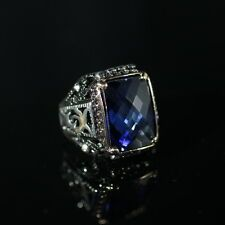 TURKISH HANDMADE STERLING SILVER 925K SAPPHIRE MENS RING  SIZE 910111213 Best Price