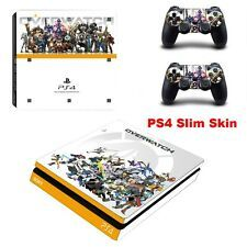Vinyl Overwatch Game For Sony PS4 Slim Skin Sticker Console controller Stickers Compare Prices