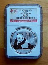 Buy 2015 NGC MS70 China Silver Panda 10Y 1 oz 9999 Silver FIRST RELEASES with Paypal