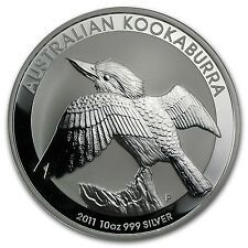 Buy 2011 10 oz Silver Australian Kookaburra Coin  Brilliant UncirculatedSKU 59008 with Paypal
