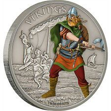 Get Cheap VIKINGS Warriors of History 1oz antiqued silver coin Niue 2016