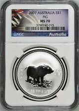 Buy Australia 2007 S1 Silver Pig 1oz NGC MS70  Coin Australian with Credit Card