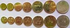 On Sale Tajikistan set of 7 coins 2011 125102050 diram 1 somoni UNC