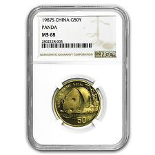 1987S China 12 oz Gold Panda MS68 NGC  SKU 65462 Cheap