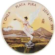 Get Cheap 2014 1 Oz Ounce Silver Mexican Libertad Colorised Edition Coin 999 Rare