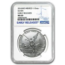 Get Cheap 2016 Mexico 1 oz Silver Libertad MS69 NGC Early Releases  SKU 98340