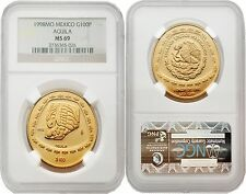 Mexico 1998 Aguila 100 Pesos 1 oz Gold NGC MS69 for Sale Online