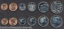 AUSTRALIA COIN SET 125102050 Cents 19802005 UNC UNCIRCULATED LOT of 6 for Sale Online